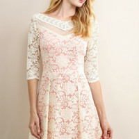 Blushing Rose Lace Dress