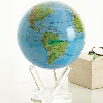 "Mova Blue 6"" Globe with Relief Map - Mova Globe"