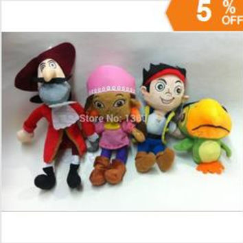 jake and the neverland pirates of the Caribbean Jack fisher plush Soft toys doll