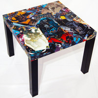 Batman Comic Collage Table FREE SHIPPING USA