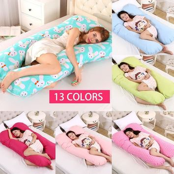Comfortable Body Pillow for Pregnant Women Best for Side Sleepers Removable Cover 70x130cm