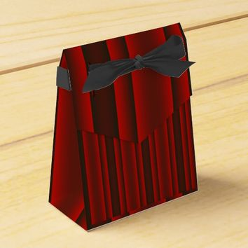 Red and Black Stripes Favor Box
