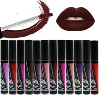 12 Color Choose Long Lasting Waterproof Matte Lipstick Makeup Moisturizer Lip Gloss