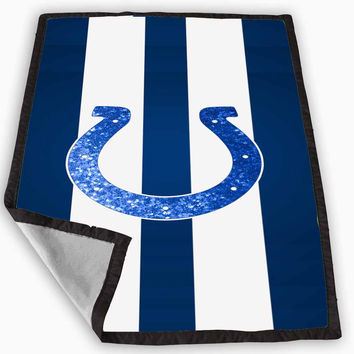 Indianapolis Colts Sparkly Blanket for Kids Blanket, Fleece Blanket Cute and Awesome Blanket for your bedding, Blanket fleece *