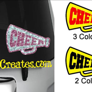 Cheer Decal - GLITTER and NEON