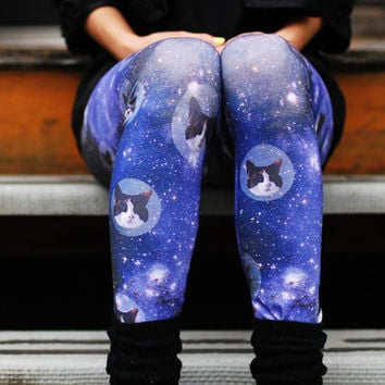 SPACE CATS leggings digitally printed Supayana