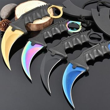 OutDoor Karambit CS GO Knife Counter Strike Collectible Tactical Fighting Claw Knives Survival Camping Combat Cosplay Tools EDC