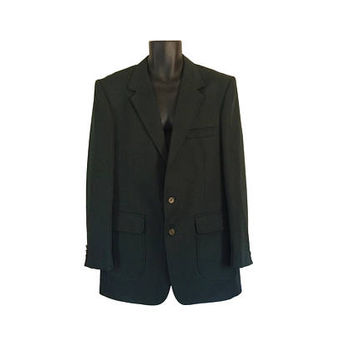 Vintage Men Sport Jacket 44 Men Sport Coat Green Blazer Men Polyester Blazer 70s Blazer Retro Blazer Mens Suit Jacket 1970s Clothing Clothes