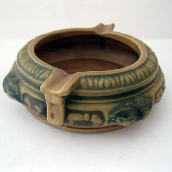 Roseville Florentine Ashtray 1920s Made In USA American Pottery  - FL