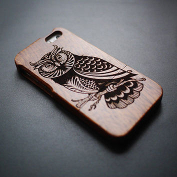 Night Owl Wood iPhone 5s Case - Real Wood iPhone 5 Case - Custom iPhone 5s Case Wood - Wooden iPhone 5 Case - Case iPhone 5s 5