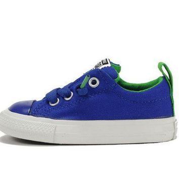 MDIGH3W Converse for Kids: Street Slip Radio Blue (Infant) Sneaker
