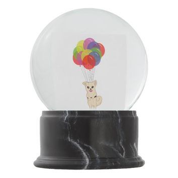 Puppy with Balloons Snow Globes