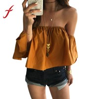 Sexy Off Shoulder Casual Short Sleeve Blouse