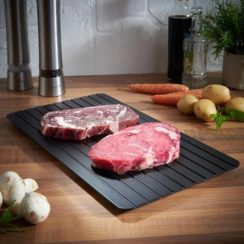 Lekoch Thawing Plate High Quality Fast Defrosting Tray Defrost Meat or Frozen Food Quickly Without Electricity Microwave