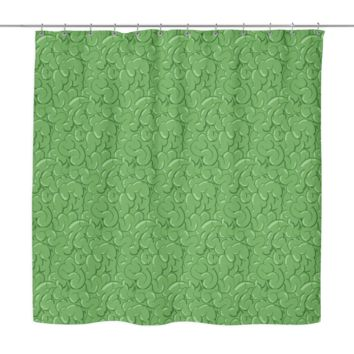 Halloween Zombie Guts Green Shower Curtain