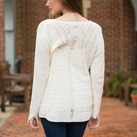 Feel This Way Sweater, Ivory