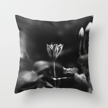 Reaching out - BW Throw Pillow by HappyMelvin Protanopia