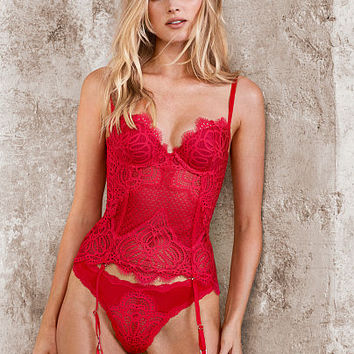 Lace & Mesh Bustier - Dream Angels - Victoria's Secret