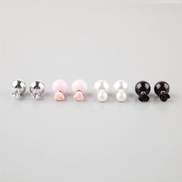 Full Tilt 4 Pair Front/Back Ball Earrings Silver One Size For Women 25145914001