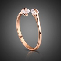 Mother's Day Gifts Fashion Plaza Use Cubic Zirconia Crystals Cute Ring R22
