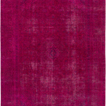 "9'6"" x 12'10"" Pink Turkish Overdyed Rug"