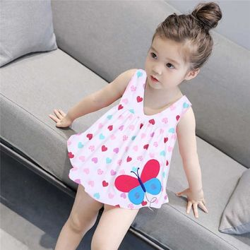 Summer Baby Girl Princess Dress Clothes 0-2 Year Cartoon Dot Dress for Newborn Girl Baby Girl Cotton Sleeveless Clothing