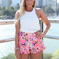 WILD THINGS SHORTS , DRESSES, TOPS, BOTTOMS, JACKETS & JUMPERS, ACCESSORIES, SALE, PRE ORDER, NEW ARRIVALS, PLAYSUIT, COLOUR,,SHORTS,Pink,Print Australia, Queensland, Brisbane