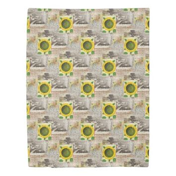 Sunflower Ancient Rome Italian Duvet Cover
