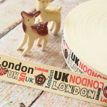 London UK british Union Jack sewing tape fabric ribbon