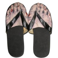 Official Costumes Zombie Feet Sandals, Large