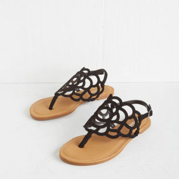 ModCloth Peony More Where That Came From Sandal in Black