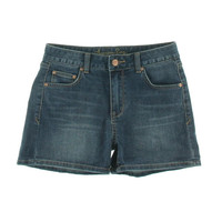American Rag Womens Juniors Whisker Wash Flat Front Denim Shorts