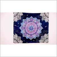 Purple Starry Sky Mandala Tapestry