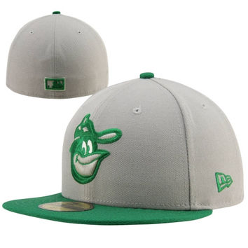 New Era Baltimore Orioles Cooperstown Collection 59FIFTY Fitted Hat - Gray/Green