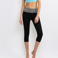 Women Slim Ankle-length Pants Sport Suit Fitness Sportswear Stretch Exercise Yoga  Trousers Pants _ 2141