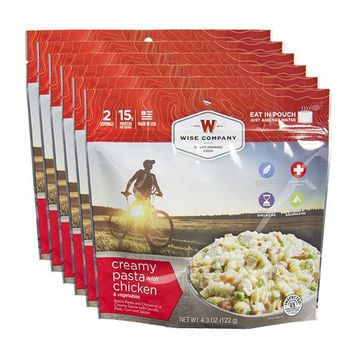 Creamy Pasta with Chicken Camping Food (Case of 6)