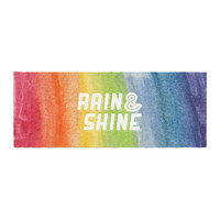 "KESS Original ""Rain & Shine"" Rainbow Abstract Bed Runner"