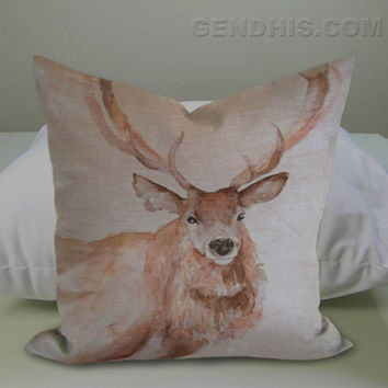 Dobbies Stag Cushion Case, Pillow Cover, Custom Pillow Case