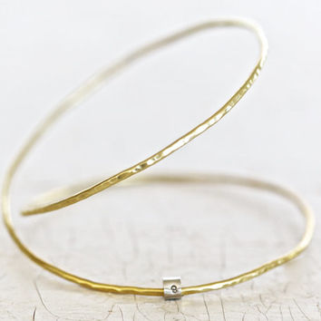 Infinity Bracelet - Hand Forged - Hand Hammered - Gold Infinity Cuff - Roots Jewelry - Bohemian Chic - Gift for Her - Unique Jewelry