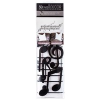 Black Music Notes 3D Vinyl Stickers | Hobby Lobby