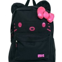 Hello Kitty Black with Pink Face Back Pack