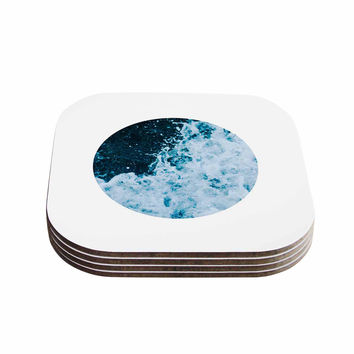 "Chelsea Victoria ""The Sea"" Nautical Blue Coasters (Set of 4)"