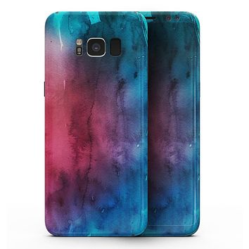 Vivid Pink 869 Absorbed Watercolor Texture - Samsung Galaxy S8 Full-Body Skin Kit