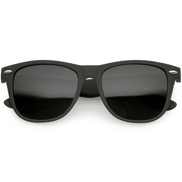 Large Super Dark Lens Matte Color Horned Rim Sunglasses 54mm C767
