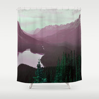Velvet Peak Shower Curtain by 83oranges.com