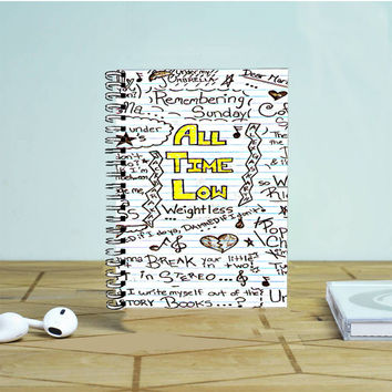 All Time Low Collage Photo Notebook Auroid