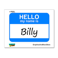 Billy Hello My Name Is Sticker