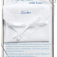 Embroidered Sister Hankie in Gift Box