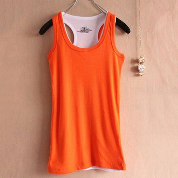 10 Colors! Women Tops Tees Women Summer Candy Color Tanks Women T Shirts Womens Basic Tank Tops