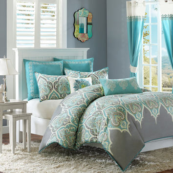 Madison Park Nisha 5 Piece Twin Comforter Set & Reviews | Wayfair
